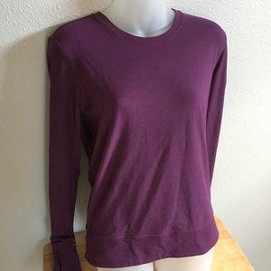 Lululemon purple long sleeve top w back pleats 6